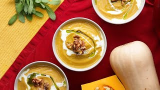 Roasted Butternut Squash Soup •Tasty