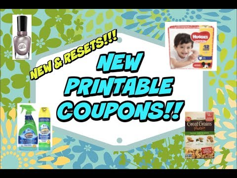 HOT 🔥 NEW PRINTABLE COUPONS & RESETS!!  Sally Hansen, Huggies, Suave & more!