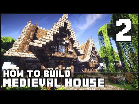 Minecraft - How to Build : Medieval House - Part 2 + Download