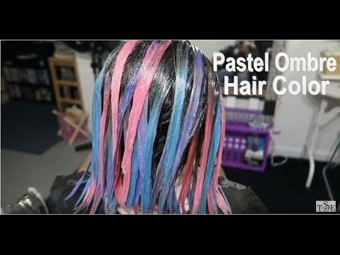 Pastel Hair Color | Purple, Blue & Pink Joico Hair Color Tutorial