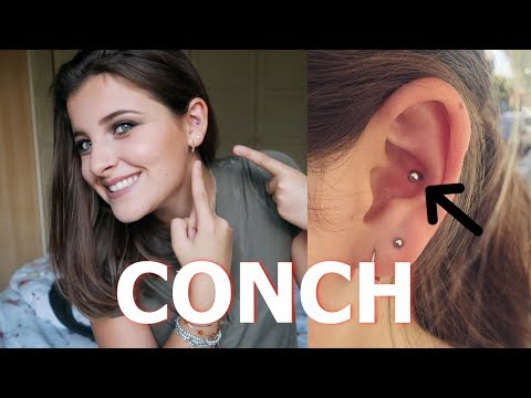 CONCH PIERCING  // my experience & aftercare
