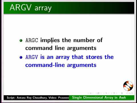 More on Single Dimensional Array in awk - English