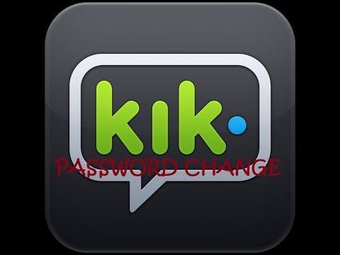 How to change Kik password