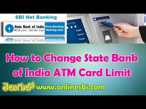How to Change State Bank of India ATM Card Limit in Telugu-SBI Internet Banking