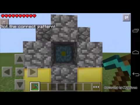 Tutorial: Como crear portal al nether en minecraft pe 0.10.4