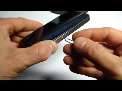 How to replace SIM card Apple iPhone 4S