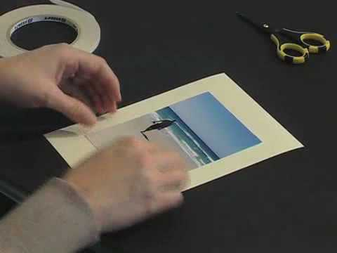 Scrapbook.TV - How to Use Double-Sided Tape to Adhere a Photo