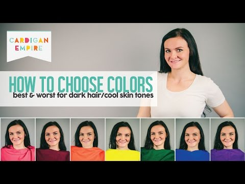 How To Wear the Right Colors for Your Skin Tone - Dark Hair and Cool Skin (Winter Season)