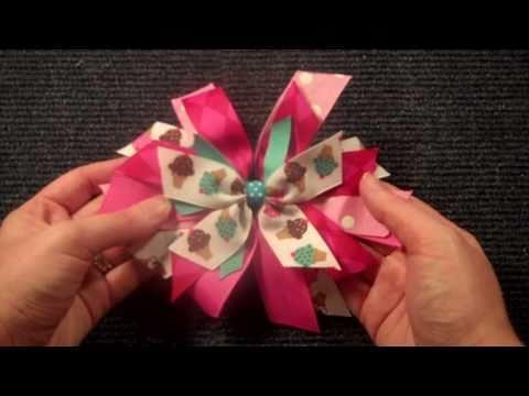 Pinwheel Style hairbow tutorial V.2 (hair bow instructions/tutorial)
