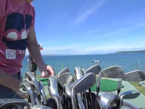 Hole-in-one competition Lake Taupo, New Zealand