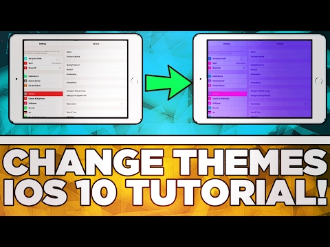 How To Change The Colour Theme/Filter Of Your iPhone & iPad! iOS 10+ Tutorial!