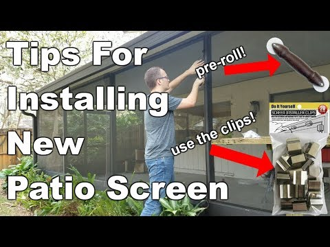 How To Replace Patio Screen