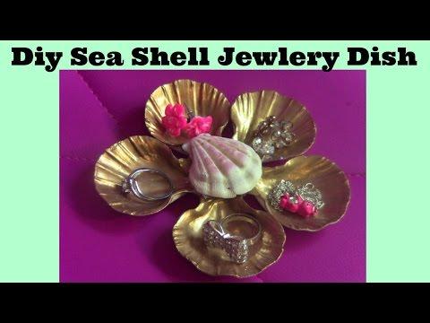 DIY CUTE SEA SHELL JEWELRY DISH!!