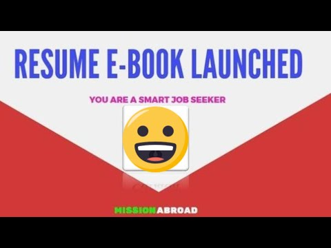 HOW TO WRITE RESUME OR COVER LETTER   RESUME E-BOOK LAUNCHED