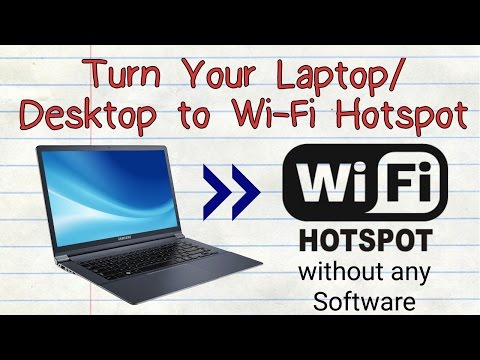 Turn Laptop/Desktop to Wifi Hotspot in Windows 7 , 8, 10 | Without any Software