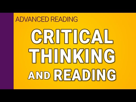 Critical thinking and reading