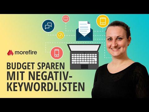 Negativ-Keywordlisten nutzen und AdWords Budget sparen | morefire