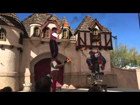 The London Broil Juggling Fire show