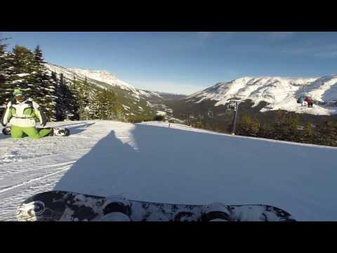 Snowboarding at Castle Mountain Resort 2017