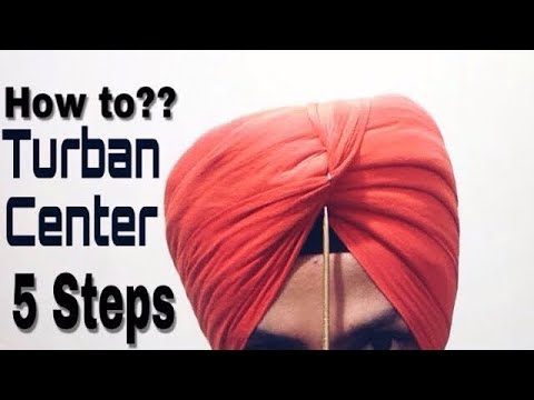HOW TO CREATE TURBAN'S CENTER BY HARPREET SINGH 2018