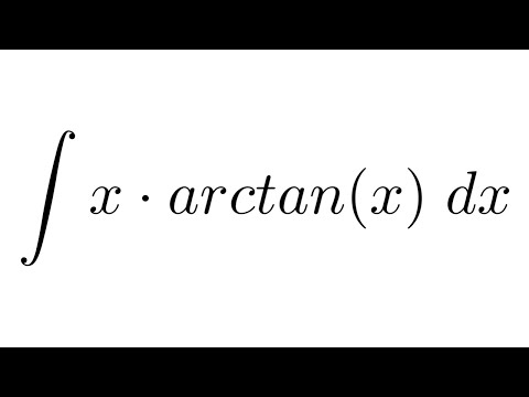 Integral of x*arctan(x) (by parts)