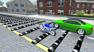 BeamNG drive - 100+ consecutive Speed Bumps in Car, Truck, Motorbike Crash test