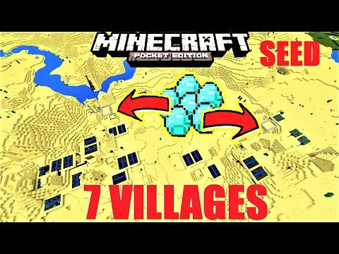 MCPE 1.2 -  7 VILLAGES, 4 BLACKSMITHS, DIAMONDS & MORE SEED MINECRAFT PE 1.2