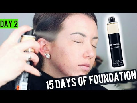 SEPHORA AIRBRUSH PERFECTION MIST SPRAY Foundation {Review & Demo} 15 DAYS OF FOUNDATION