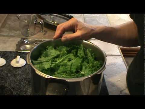 Mustard Greens in the Pressure Cooker