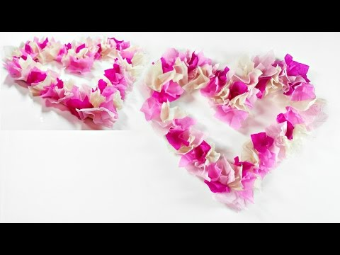 3D Paper Heart wreath DIY Valentines Crafts easy for wedding paper decorations/valentine paper craft