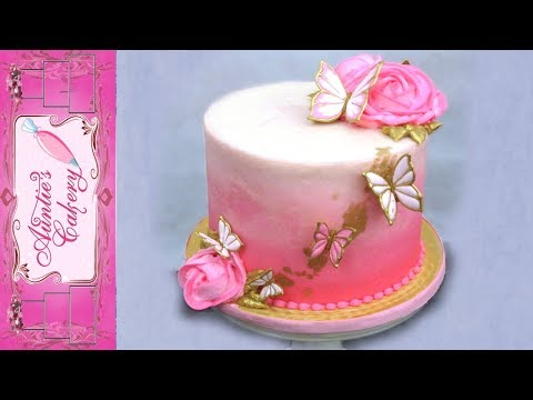 Pink Butterfly Cake Tutorial