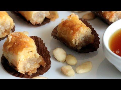Almond Mhencha Pastry / محنشة باللوز - CookingWithAlia - Episode 414
