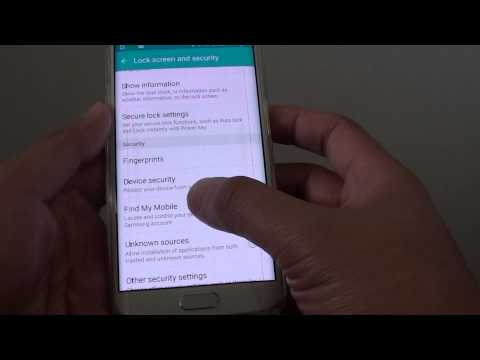 Samsung Galaxy S6 Edge: How to Enable / Disable Find My Mobile Remote Controls