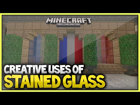 (NEW!)Minecraft - Creative ways to use stained glass!(XboxOne/Xbox360/Ps3/Ps4)