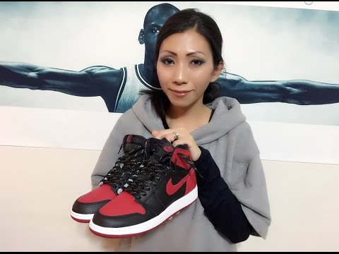 Wife's Jordan Retro 1 Banned unbox and on feet review