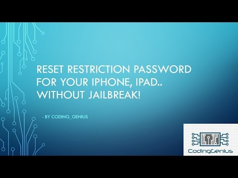 Reset Restrictions Passcode For your apple device (No Jailbreak!)