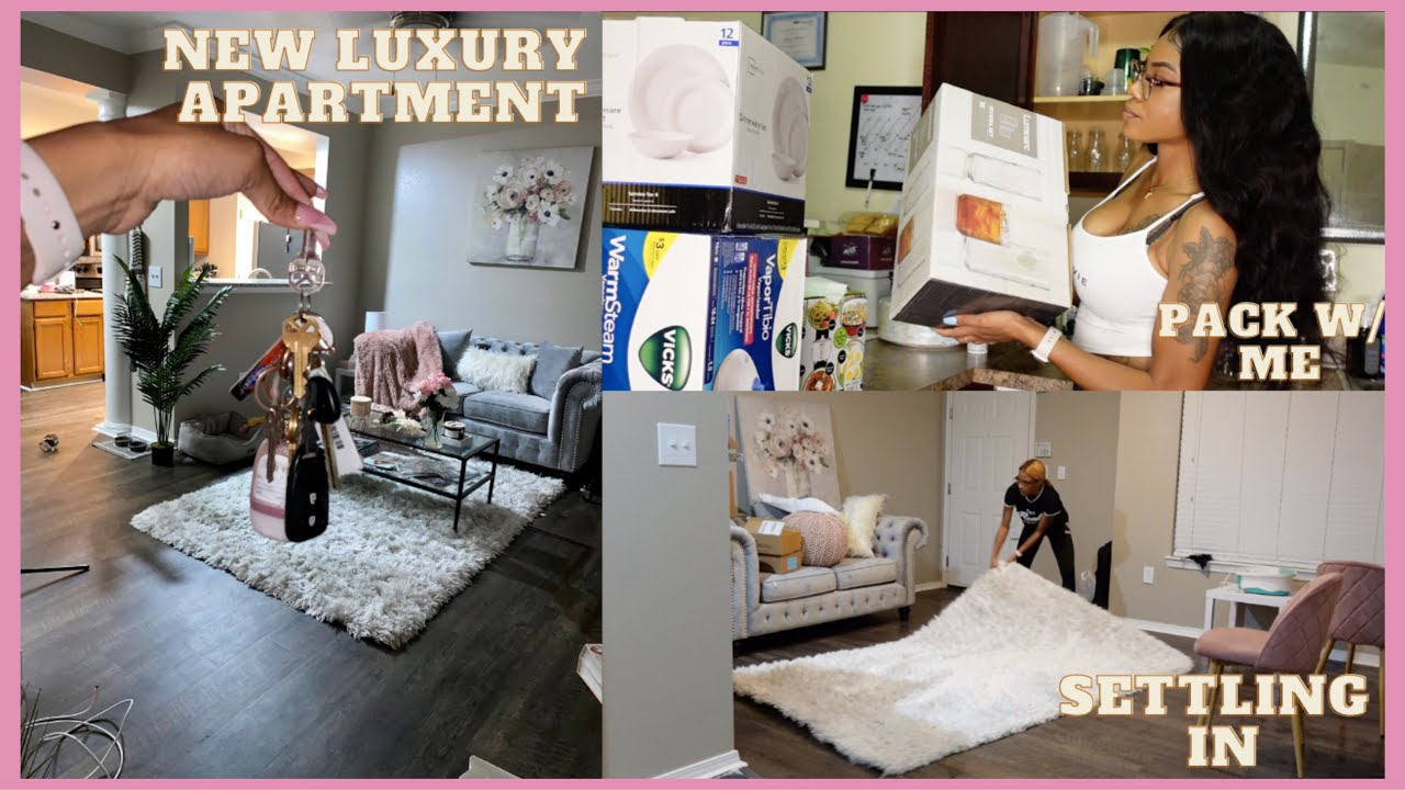 Pack with me! Moving into my NEW LUXURY APARTMENT💎🏡 | Setting up my things | 💕 Akeira Janee'