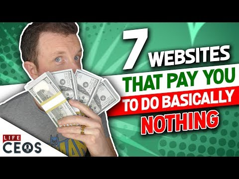 7 WEBSITES THAT PAY YOU: TO DO BASICALLY NOTHING (shockingly easy opportunity)