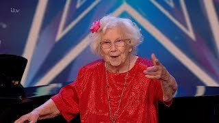 Britains Got Talent 2020 96 Year Old Singer Nora Barton Full Audition S14E04