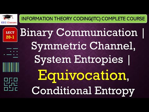 Binary Communication, Symmetric Channel, System Entropies (Equivocation – Conditional Entropy)