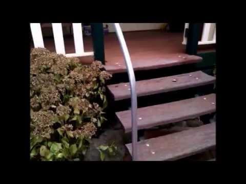 Handrail using steel pipe, DIY