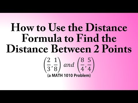 How to Use the Distance Formula to Find the Distance Between 2 Points (a MATH 1010 Problem)