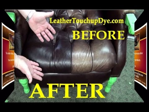 Leather Repair Kit - DIY- Fix Worn and Faded Aniline Leather Chair