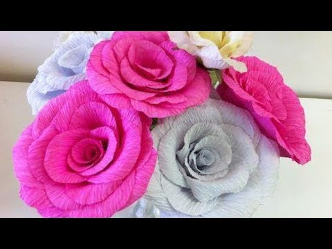 How to make flowers out of Crepe Paper