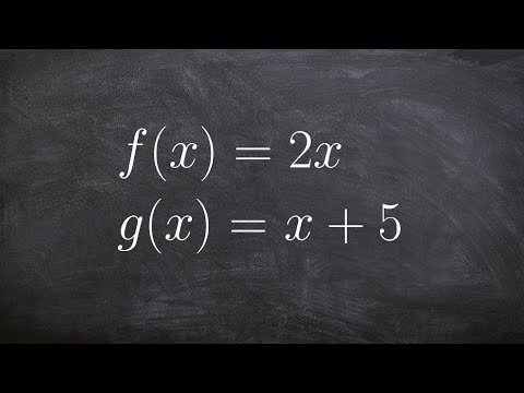 Solving the Composition of Two Functions