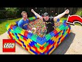PUTTING 50000 GUMBALLS IN A LEGO POOL