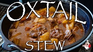 Oxtail Stew 🔥Outdoor Cast Iron Cooking 🔥