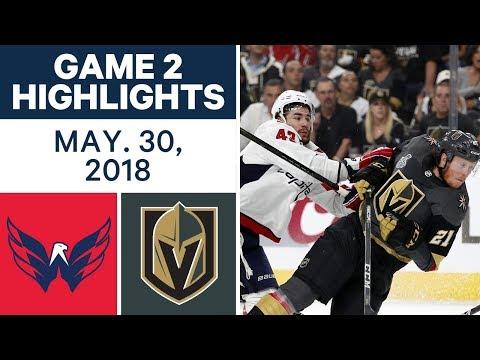 NHL Highlights   Capitals vs. Golden Knights, Game 2 - May 30, 2018