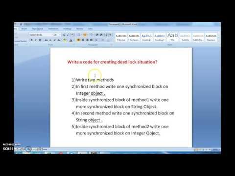 Write a java program for creating deadlock in  java?