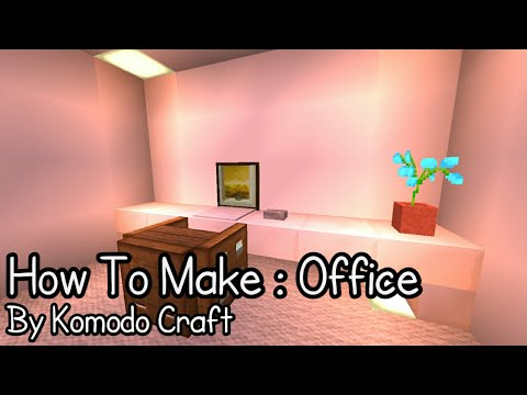 How To Make : Simple Office | MCPE Tutorial